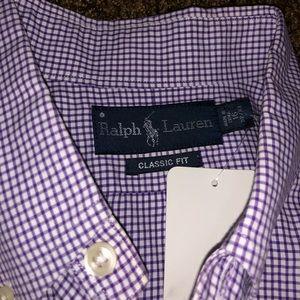 New Ralph Lauren purple button down